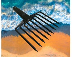 Survival Hand Spear Spearfishing Tip 9 Prong Barbed Head Fishing Gun Harpoon Pro