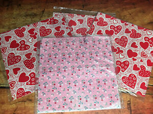 VTG Wrapping Paper Valentines Wrap Gift Wrap Love Hearts Valentines Day NEW