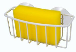 Uniware Sponge Holder With two Suction Cups, Black/White