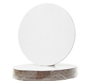 10 Inch Corrugated Single Wall Cake and Pizza Circle, Greaseproof, White 10Pack