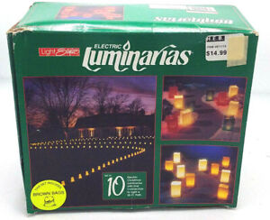 Light Styles Electric Luminarias 10 Piece Holiday Christmas Halloween Decoration
