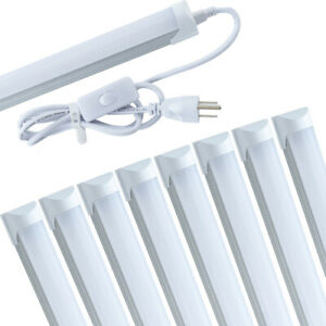 4FT 6 Pack LED Shop Light T8 Linkable Ceiling Tube Fixture 24W Daylight 6000K