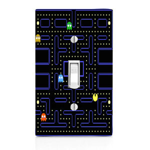 Pac Man Gamer Light Switch Cover, Nightlight, Knob,Outlet, Bedroom, Double light