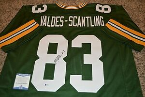 MARQUES VALDES SCANTLING Autographed Auto Jersey Green Bay Packers Beckett COA $77.99