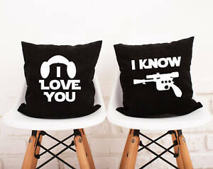 Two Pillow Covers. Star Wars Set Pillowcase. Personalized Pillows for Couple #85