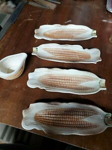 Vintage Ceramic Our Own Import Corn on the Cob Dishes Set of 5