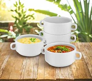 KOVOT Set Of 4 Porcelain Stackable 20 Ounce Bowls 4 Bowls Kitchen amp;amp Dining