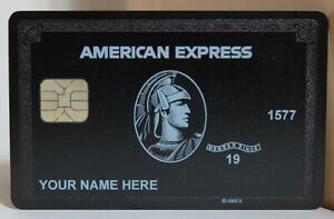 AMERICAN EXPRESS CENTURION BLACK CARD CUSTOMIZED 2020 Version
