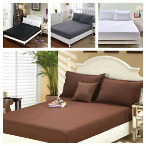 1900 Count Wrinkle Free Fitted Bed Sheet King Queen Twin Full Size $13.90