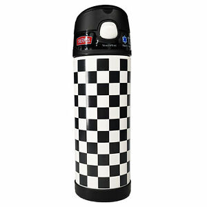 Thermos Funtainer Water Bottle 16 Oz 12hr Cold Hydration - Checkered