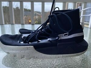UNDER ARMOUR SC 3ZERO II CURRY MEN'S BASKETBALL SHOES NAVY WHITE SIZE US 7 $36.98
