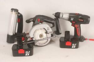 Craftsman Drill Skilsaw and Light Combo with Batteries $49.95
