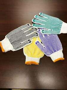 Single Dotted PVC Gloves Industrial Grade Men's