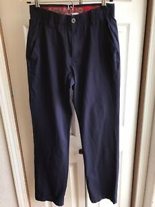 Men's Under Armour Navy Blue Casual Pants Golf Flat Front Size 30 32 $14.99