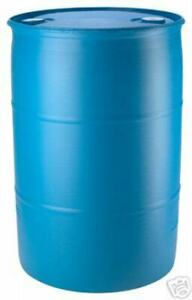 Blue 55 Gallon Plastic Water Barrel Reconditioned Free Shipping  $99.98