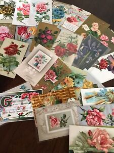 Lot of 25 Vintage Early 1900's Postcards Antique In Sleeves Free Shipping