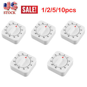 1-10x 1 Hour Long Ring Bell Alarm Loud 60Minute Kitchen Cooking Timer Mechanical