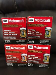 Motorcraft FL 910S Oil Filters NEW lot of 4 Genuine Factory Ford Filters