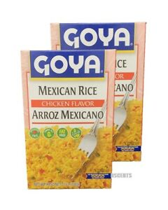 2 Pack Goya Mexican Rice Chicken Flavor Arroz Mexicano Fat Free Gluten Free 7 Oz