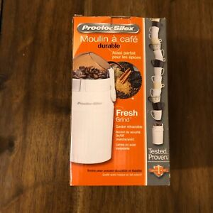 Proctor Silex Electric Durable Coffee Spices Grinder Stainless Steel Blade NEW Q