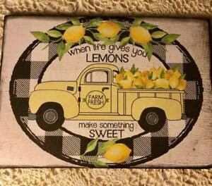Lemons Farm Fresh Truck, Vintage Style, Plaque / Sign 5x7