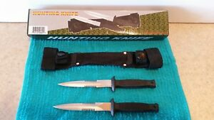 Stainless Steel Knives Specialty Hunting Knives With Carrier Two Knives Sheath