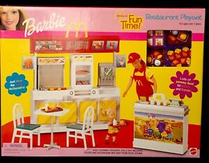 BARBIE MCDONALD'S FUN TIME RESTAURANT PLAYSET 2002 Rare Set_88811_NRFB