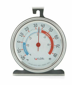 Taylor 5924 Classic Stainless Steel Freezer Refrigerator Thermometer