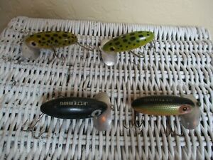 LOT OF 4 FRED ARBOGAST JITTERBUG LURE'S WOOD