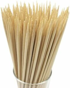 Natural Bamboo Skewers Φ=4mm For BBQ and food cooking(100 PCS)