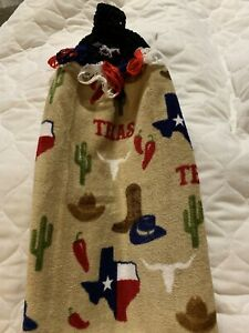 Texas Steer Cactus Double Thick Crochet Kitchen Towel By Laura