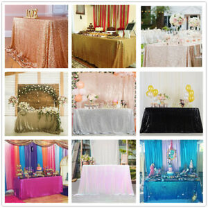 Sequin Tablecloth Rectangle Classy Elegant Tablecloth Wedding Party Events Decor