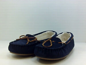 Minnetonka Womens lodge trapper Faux Fur Closed Toe, Navy/Blue, Size 12.0 ttDj