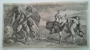 OLD MASTER ETCHING SIGNED  ALBANO  pinx 1600'S