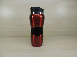 Stainless-Steel Travel Tumblers with Push Lids, 14 oz. Insulated Coffee Mugs