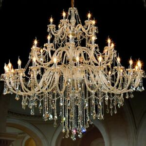 Chandelier Crystal Light Fixtures Living Room Modern Elegant Ceiling Decor Lamps