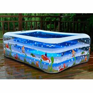 Kids Inflatable Swimming Pool Outdoor Water Playing Area Cute Designed Pools New