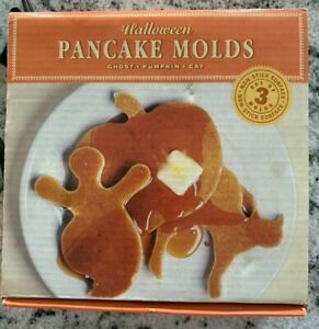 Williams-Sonoma Halloween Pancake Molds Set Of 3 (Pumpkin Ghost Cat) recipe incl