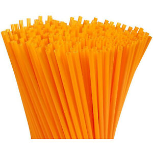 300-Pack Plastic Orange Disposable Party Drinking Straws, Extra Long Size, 10