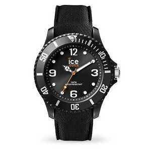 Ice Watch Sixty Nine Medium Black Silicone Band Unisex Watch 007277