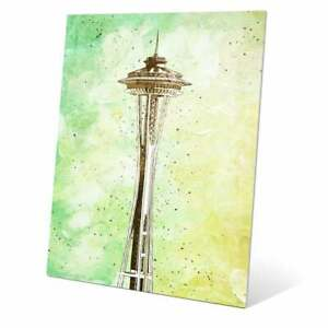 'Space Needle Green' Wall Graphic on Metal Multi Small