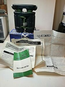 Used Carl Zeiss-Jena EDF 7x40 Warsaw Pact Military Binocular Original Box  Book