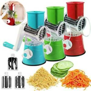 3IN1 Stainless Steel Manual Vegetable Food Cutter Slicer Grater Kitchen Tools
