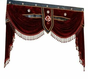 Curtain Window Embroidered Woven Ceiling Installations Floral Patterned Curtains