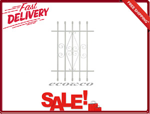 Window Protection Bars With Safety Screws Spear Point 5-Bar 24x36 Inch White