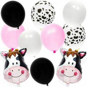 62Pcs Farm Animal Cow Print Balloons 18quot; for Kids Birthday Party Decorations