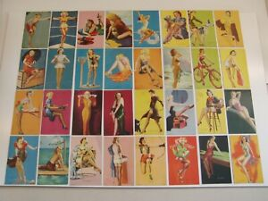 Complete Mutoscope 32 Card Set Of  Glamour Girls All Original