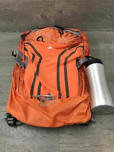 Ozark Trail Anvik Backpack W/ Water Bottle Nylon/metal/plastic Orange/sliver