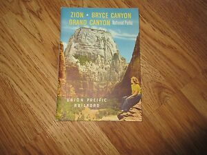 1950 UNION PACIFIC RAILROAD TOURIST BOOKLET ZION, BRYCE AND GRAND CANYON NP's