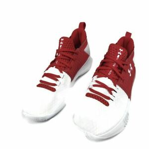 Under Armour Drive 4 Low White Red US Men's Size 9 Shoe Basketball 3000086 $24.99